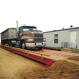 portable, steel deck truck scale