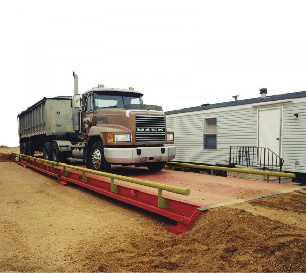 portable, steel deck truck scale